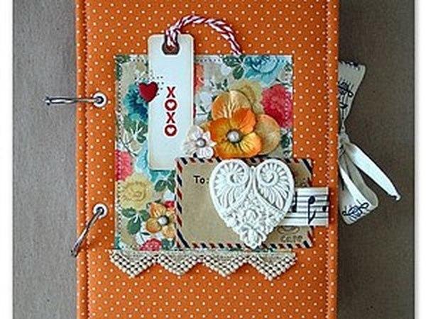 МК по скрапбукингу - альбом на кольцах | Ярмарка Мастеров - ручная работа, handmade