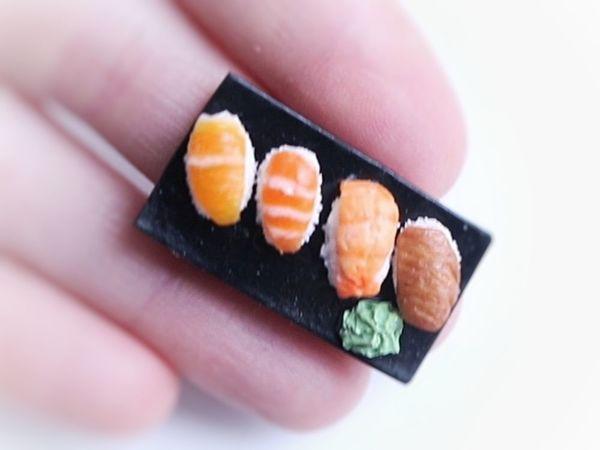 Видео-урок  «Миниатюрные суши из полимерной глины» | Ярмарка Мастеров - ручная работа, handmade