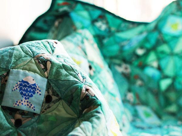 Создаем лоскутный плед «Рыбы — жители воды» | Ярмарка Мастеров - ручная работа, handmade