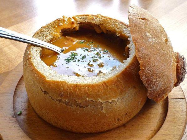 Суп-гуляш в хлебе | Ярмарка Мастеров - ручная работа, handmade