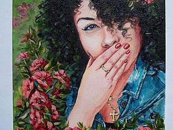 Рисуем портрет акриловыми красками   Ярмарка Мастеров - ручная работа, handmade