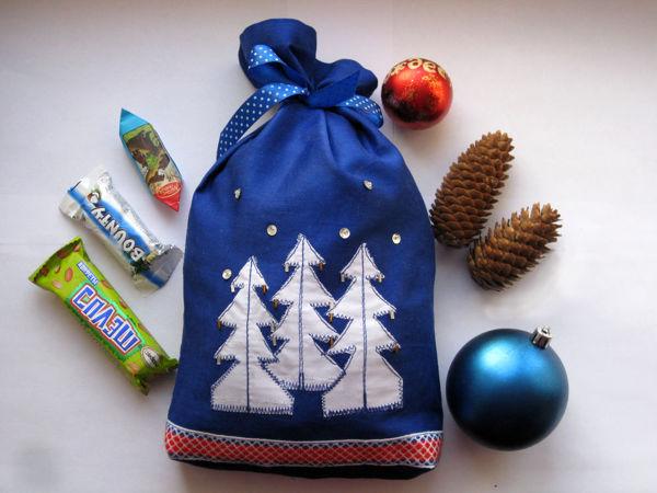 Мастер-класс по пошиву и вышивке новогоднего мешочка с елочками | Ярмарка Мастеров - ручная работа, handmade