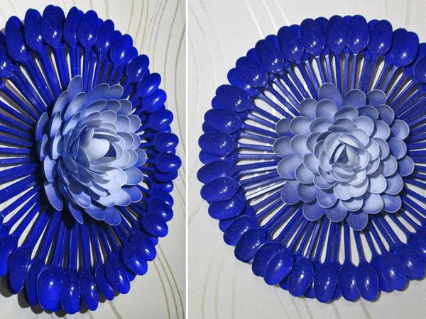 Видео мастер-класс: делаем декор из пластиковых ложек | Ярмарка Мастеров - ручная работа, handmade