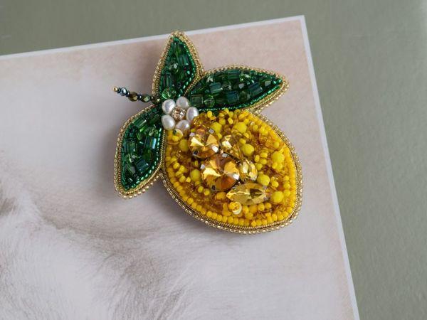 Видео брошь Цветущий лимон | Ярмарка Мастеров - ручная работа, handmade