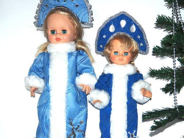 Шьем наряд снегурочки к Новому году для куклы | Ярмарка Мастеров - ручная работа, handmade