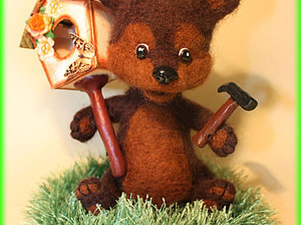 Делаем игрушку «Медвежонок и скворечник» | Ярмарка Мастеров - ручная работа, handmade