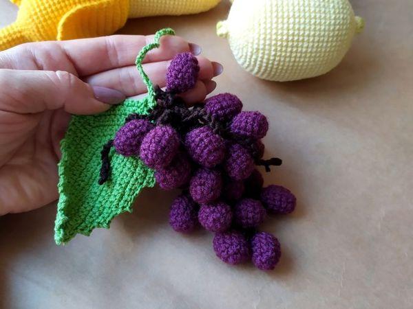 Мастер-класс: вязаный виноград | Ярмарка Мастеров - ручная работа, handmade