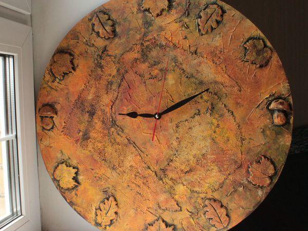 Фактурные настенные часы «Прекрасная осень»: мастер-класс | Ярмарка Мастеров - ручная работа, handmade