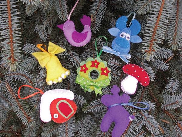 Шьем елочные игрушки из фетра | Ярмарка Мастеров - ручная работа, handmade