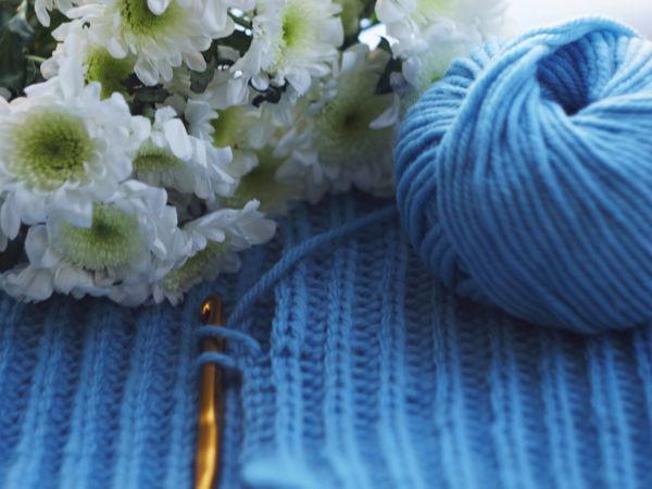 Вяжем узор крючком, напоминающий вязание спицами | Ярмарка Мастеров - ручная работа, handmade
