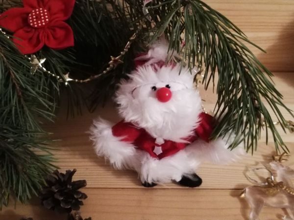 Делаем с детьми игрушку на елочку: Санта из перчатки | Ярмарка Мастеров - ручная работа, handmade