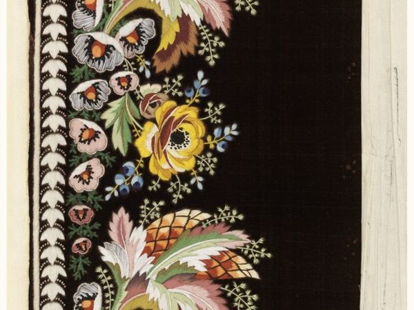 Образцы вышивки гладью 1770 гг. Франция   Ярмарка Мастеров - ручная работа, handmade