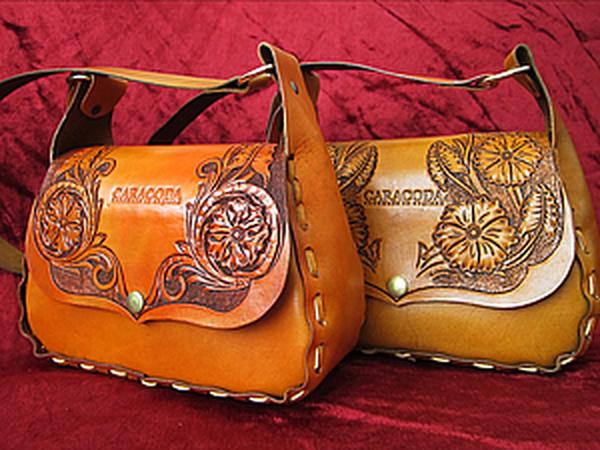 Весенняя сумочка из кожи с гравировкой | Ярмарка Мастеров - ручная работа, handmade