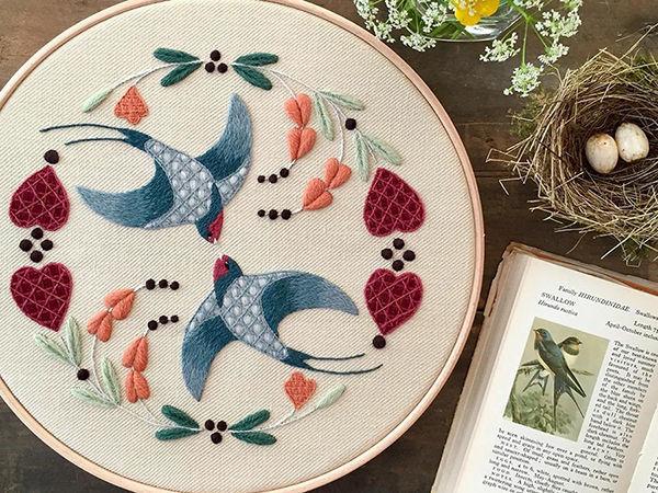 На стыке прошлого и настоящего: как британская вышивальщица возрождает культурные традиции   Ярмарка Мастеров - ручная работа, handmade