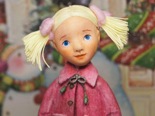 Голова из ваты для елочной игрушки | Ярмарка Мастеров - ручная работа, handmade