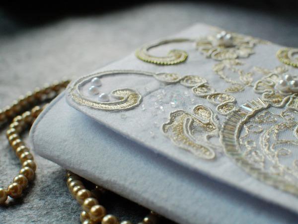 Нежный свадебный клатч из фетра своими руками | Ярмарка Мастеров - ручная работа, handmade