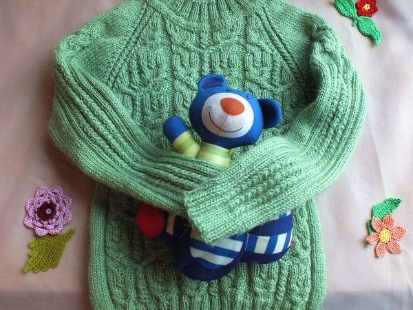 Вяжем спицами детский джемпер регланом снизу. Часть 1 | Ярмарка Мастеров - ручная работа, handmade