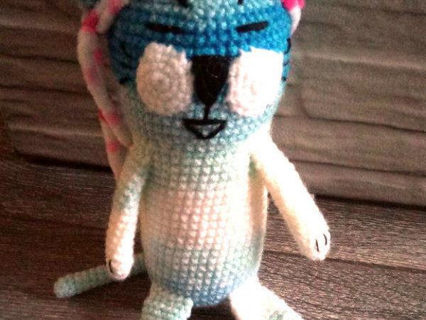 Вяжем крючком котика-японца   Ярмарка Мастеров - ручная работа, handmade