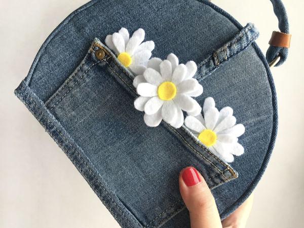 Мастерим сумочку из старых джинсов своими руками DIY | Ярмарка Мастеров - ручная работа, handmade