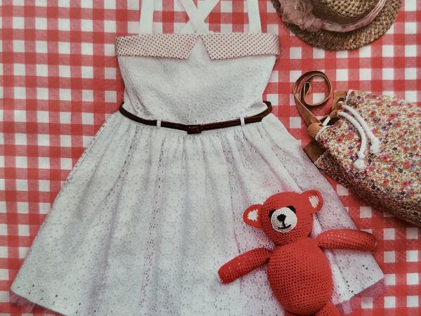 Пошив нарядного летнего платья для девочки, от начала до конца   Ярмарка Мастеров - ручная работа, handmade