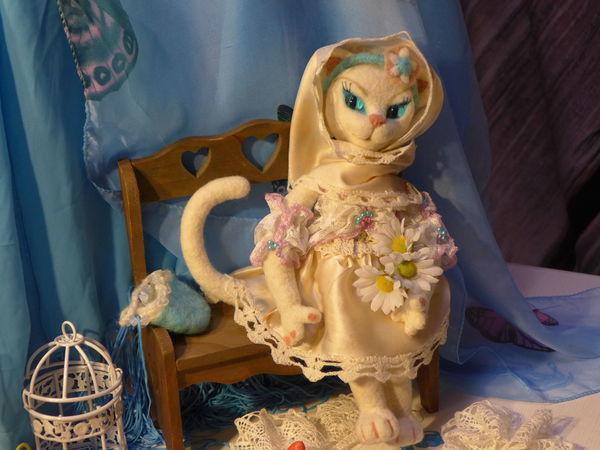 Валяная кукла-кошка Беатрис её создание и нюансы   Ярмарка Мастеров - ручная работа, handmade
