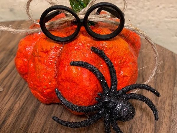 Делаем тыкву из ваты на хеллоуин | Ярмарка Мастеров - ручная работа, handmade
