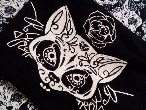 Как перенести рисунок на чёрную ткань | Ярмарка Мастеров - ручная работа, handmade