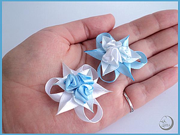 Крошечные розочки из атласных лент   Ярмарка Мастеров - ручная работа, handmade