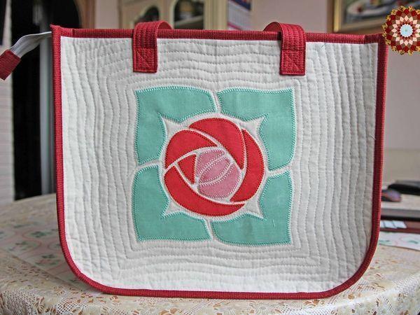 0ff8aa41eb71 Шьем летнюю сумку с аппликацией «Роза» | Ярмарка Мастеров - ручная работа,  handmade