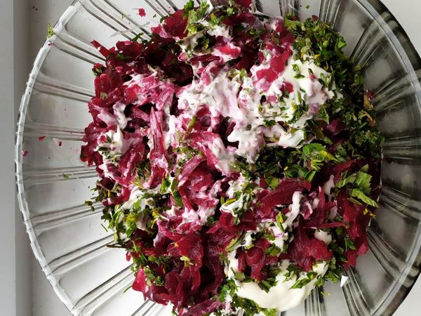 Свекольный салат с весенними дикоросами | Ярмарка Мастеров - ручная работа, handmade