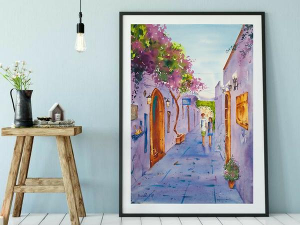 Видео Обзор Картины с Улицей Города Острова Родос | Ярмарка Мастеров - ручная работа, handmade