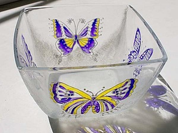 Мастер-класс по декору стеклянной тарелочки на основе витражной росписи | Ярмарка Мастеров - ручная работа, handmade