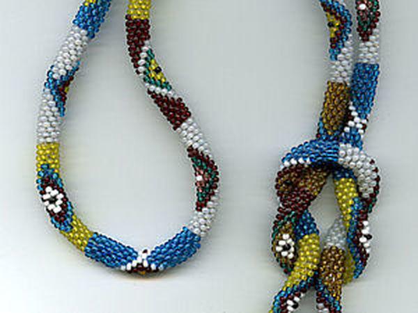 Поэтапная схема завязывания прямого узла на двух гайтанах | Ярмарка Мастеров - ручная работа, handmade