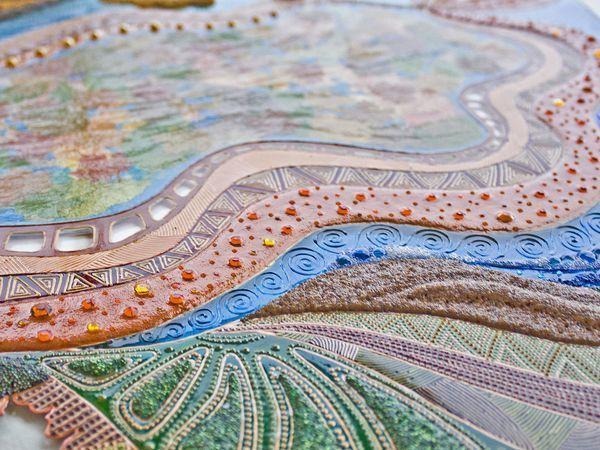 Витражная картина на стекле «Пять стихий осени» | Ярмарка Мастеров - ручная работа, handmade