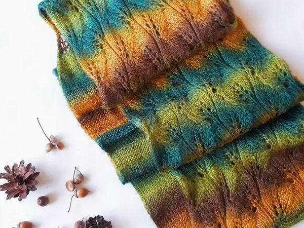 12 мастер-классов как связать свой первый шарф, бактус или снуд для начинающих + БОНУС   Ярмарка Мастеров - ручная работа, handmade