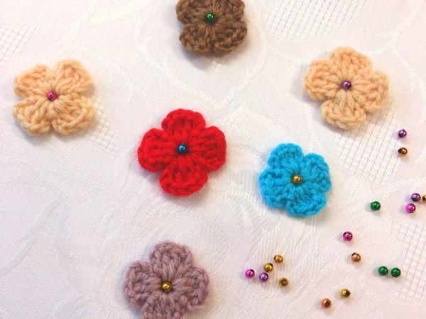 Как просто связать крючком цветочек | Ярмарка Мастеров - ручная работа, handmade