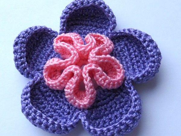 Как связать фантазийный цветок | Ярмарка Мастеров - ручная работа, handmade