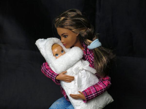 Как сшить тёплый меховой конверт для куклы | Ярмарка Мастеров - ручная работа, handmade