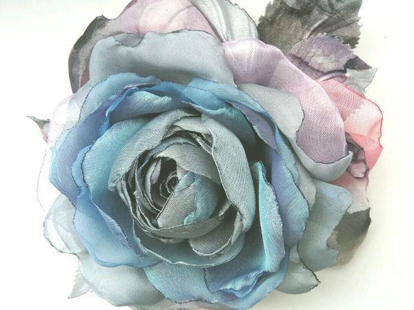 МК Роза-брошь из шифона   Ярмарка Мастеров - ручная работа, handmade