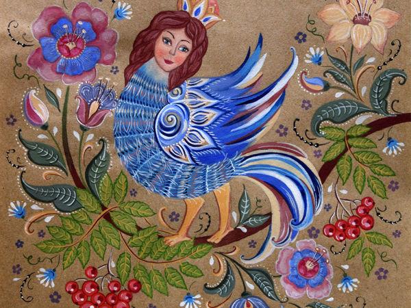 Мифологические образы в русском декоративно-прикладном искусстве. Часть третья — птица Сирин | Ярмарка Мастеров - ручная работа, handmade