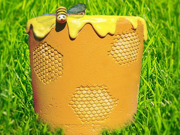 Делаем медовый вазон из бетона своими руками   Ярмарка Мастеров - ручная работа, handmade