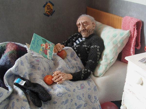 Дорогие мои старики: кукольные миниатюры, от которых слезы наворачиваются на глаза | Ярмарка Мастеров - ручная работа, handmade