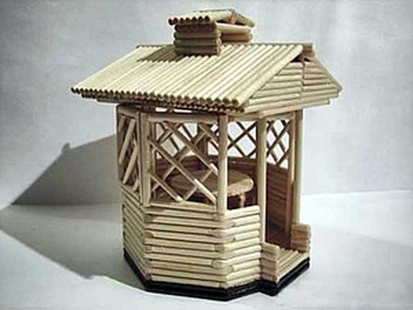 Делаем сувенирную беседку из деревянных палочек | Ярмарка Мастеров - ручная работа, handmade