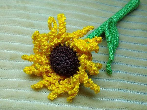 Вяжем крючком цветок | Ярмарка Мастеров - ручная работа, handmade