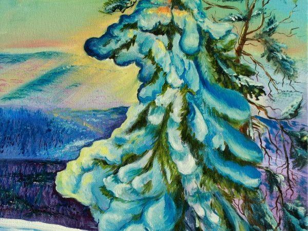 Пишем зимний пейзаж маслом | Ярмарка Мастеров - ручная работа, handmade