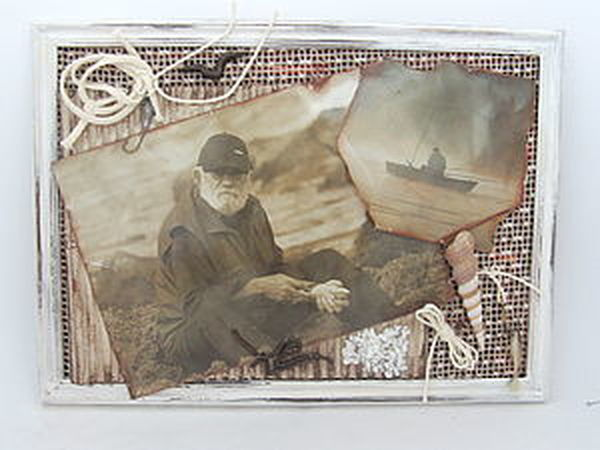 Коллаж в подарок рыбаку. | Ярмарка Мастеров - ручная работа, handmade