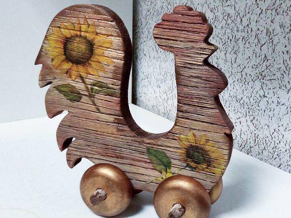 «КРОЛИК»  или другая игрушка  в стиле «рустик», различные методы состаривания дерева, браширование   Ярмарка Мастеров - ручная работа, handmade