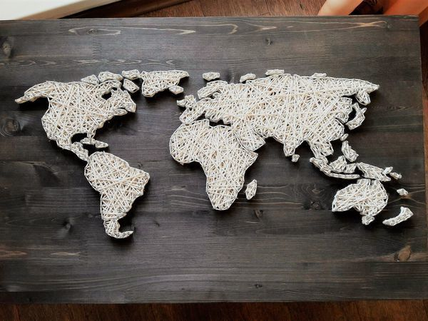 The Whole World from Threads and Nails | Livemaster - handmade