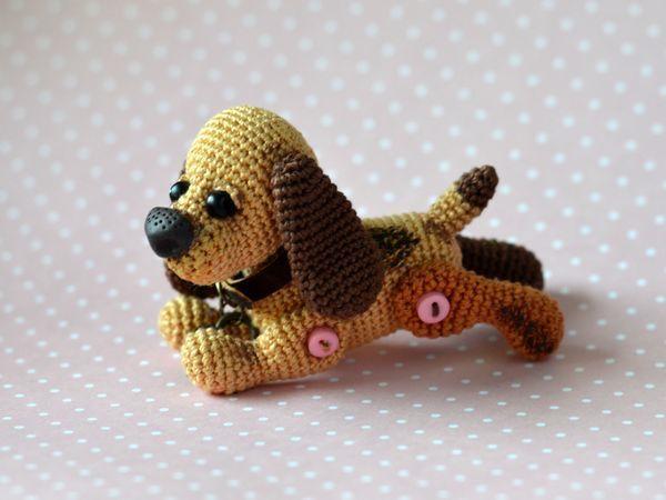 Вяжем крючком собачку Бусинку | Ярмарка Мастеров - ручная работа, handmade