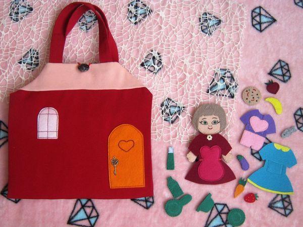 Обзор сумочки-домика для куклы   Ярмарка Мастеров - ручная работа, handmade